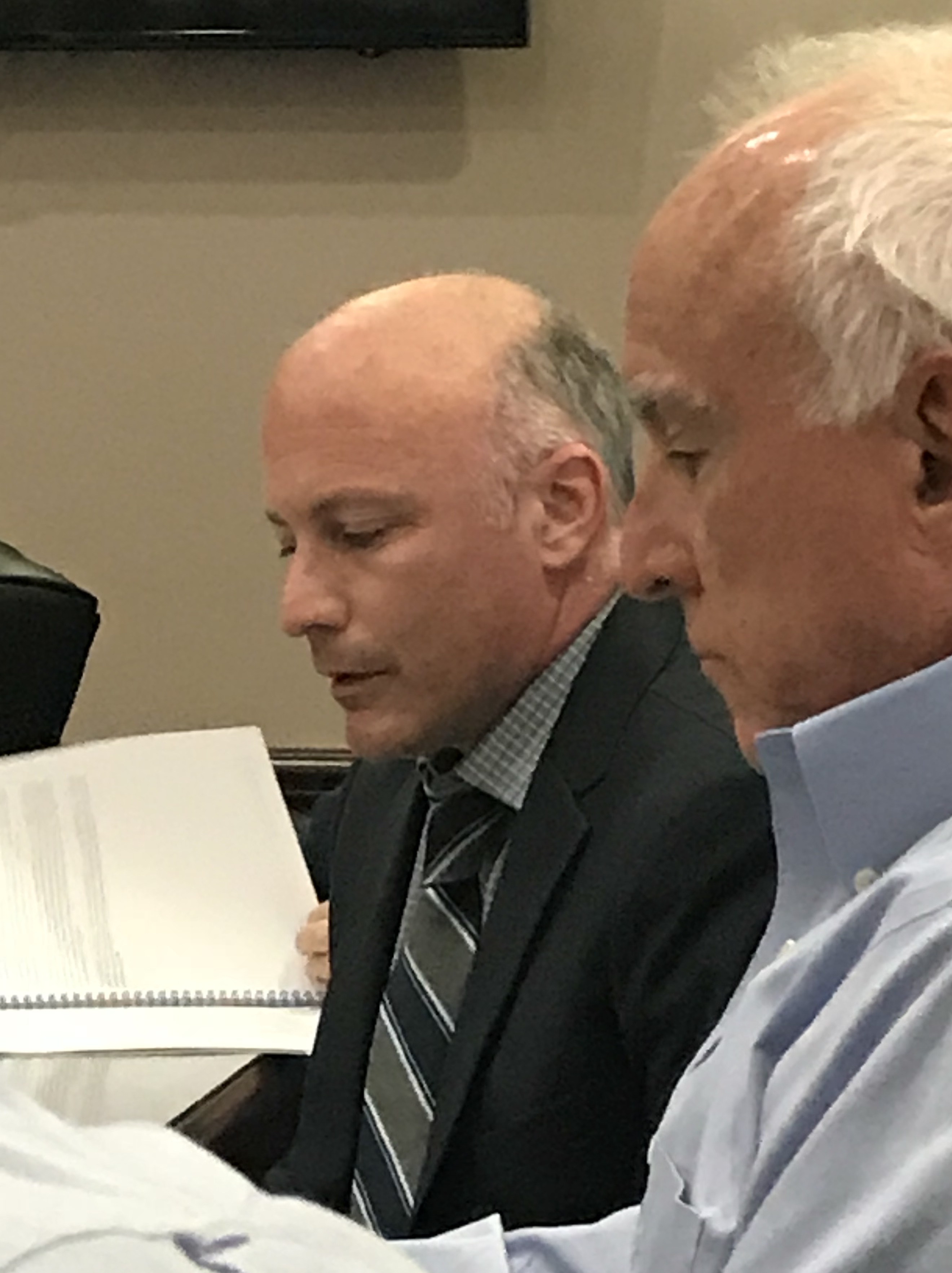 Mr Jeff Amrose (pictured left), Board Actuary from GRS Retirement Consultiing presented the West Palm Beach Police Pension Fund Actuarial Valuation Report as of September 30, 2018 (for funding in fiscal year 2019/2020).