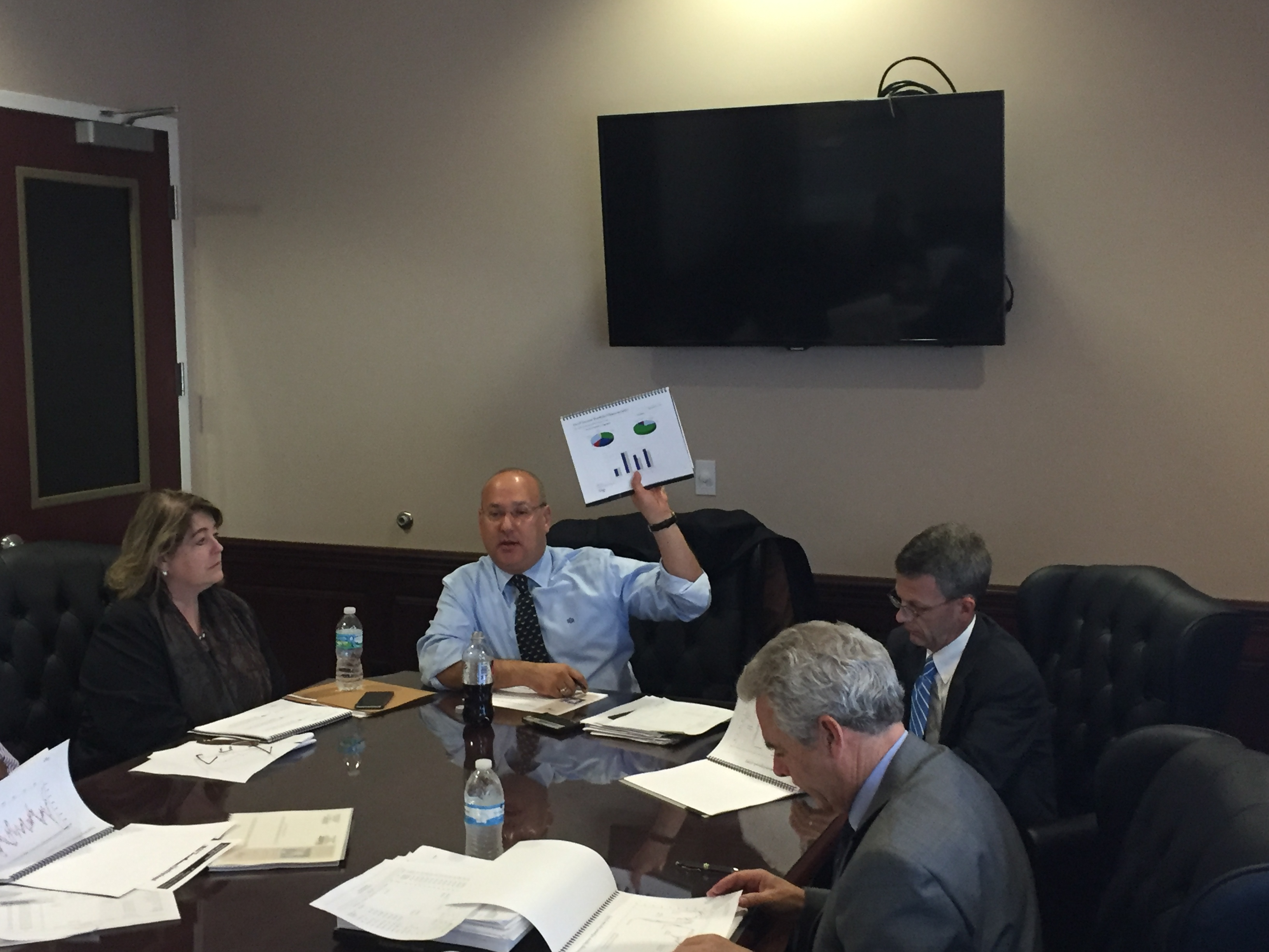 Janna Hamilton, Gilbert Garcia and Curt Rohrman from Garcia Hamilton & Associates (GHA) appeared before the Board of Trustees to discuss the September 30, 2015 Quarter and present their annual review of their portfolio. The Board would like to congra
