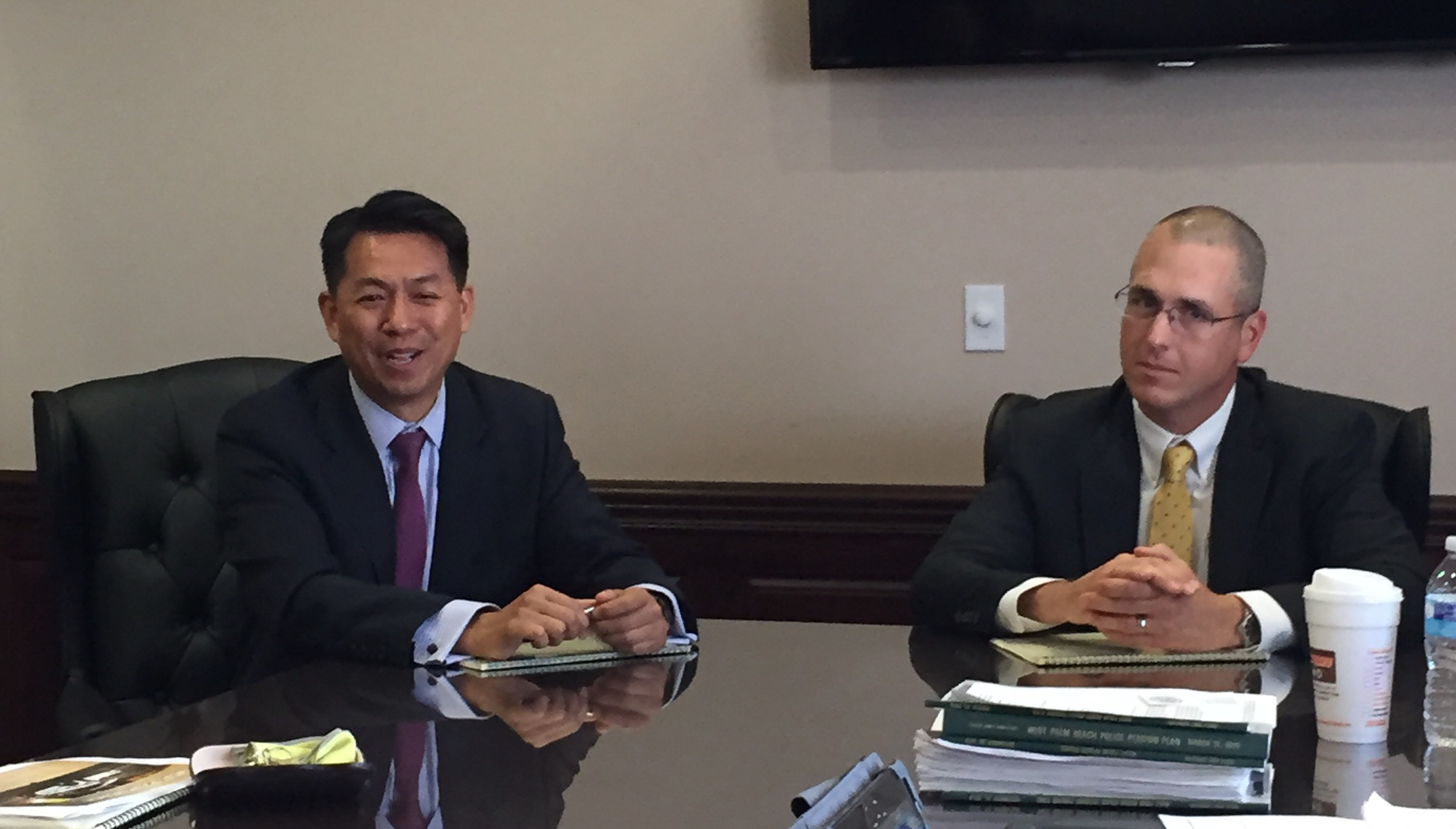 NEW AMSTERDAM – SMID CAP MANAGER - Mr. William Lynch & Mr. Hung Hoang appeared before the Board to review the March 31, 2015 investment report.